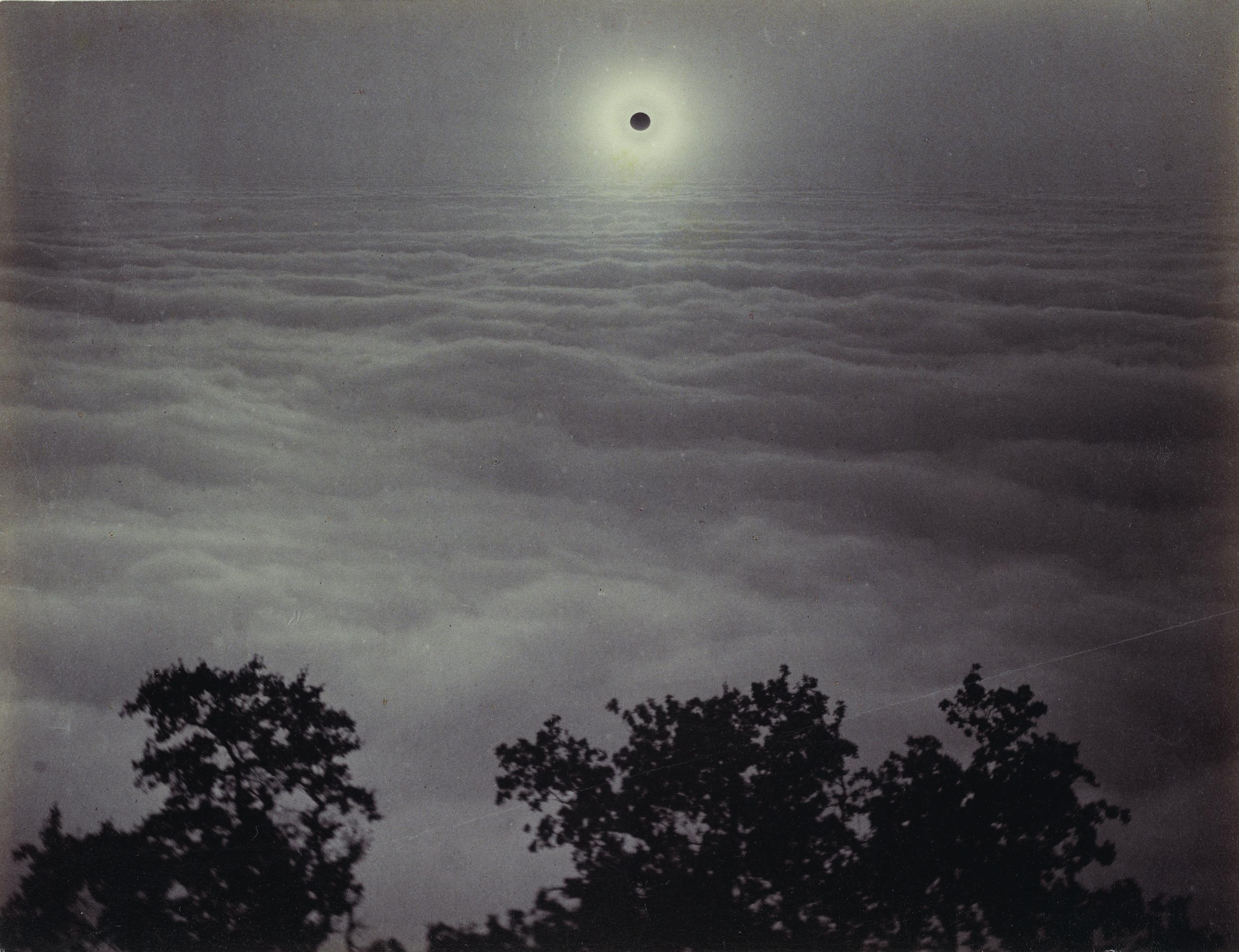 "Carleton Watkins. ""Solar Eclipse,"" (1889). Albumen silver print. 16.5 x 21.6 centimeters.Courtesy The J. Paul Getty Museum, Los Angeles"