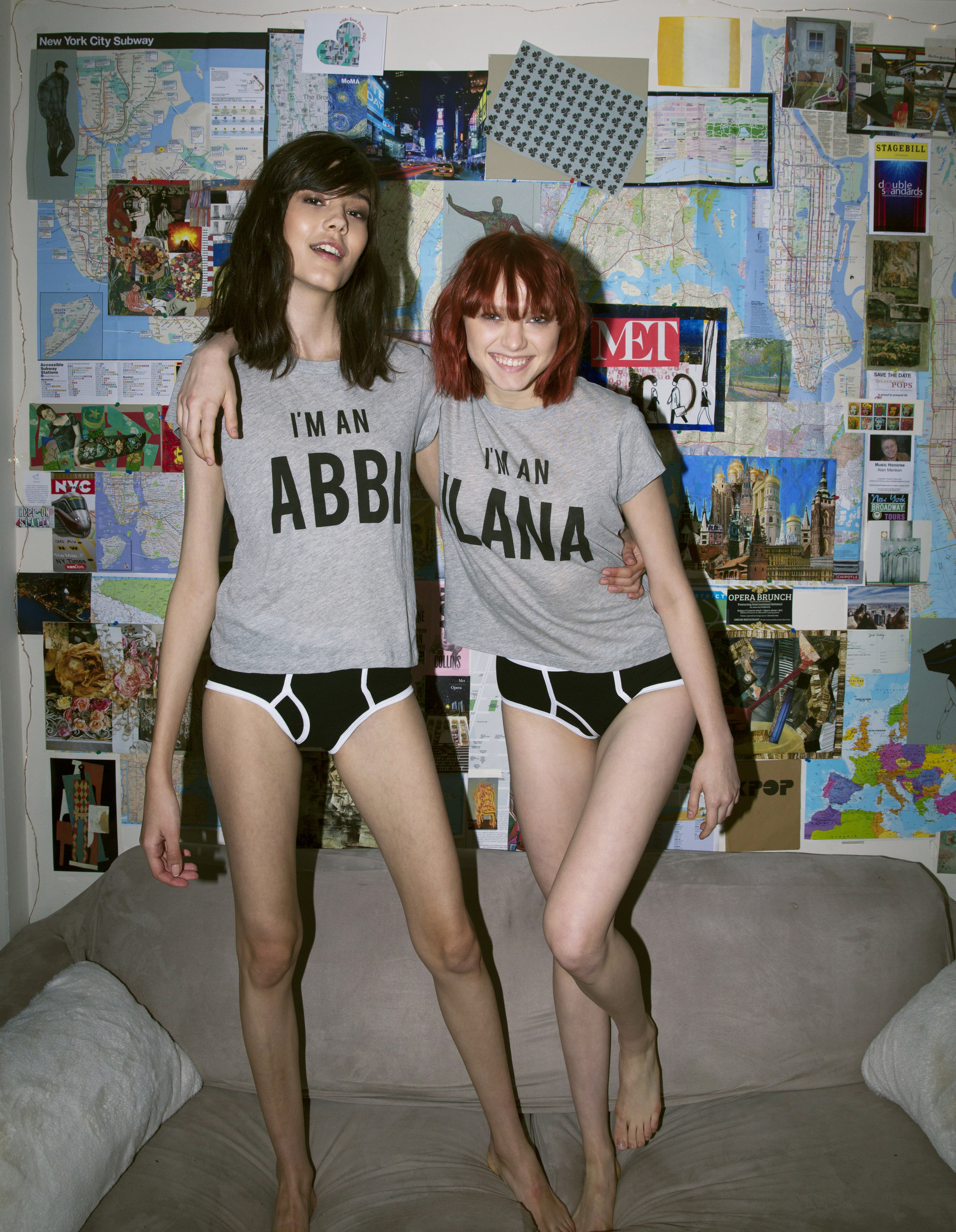Right: I'm an Abbi No9 Tee ($66), Left: I'm an Ilana No9 Tee ($66)