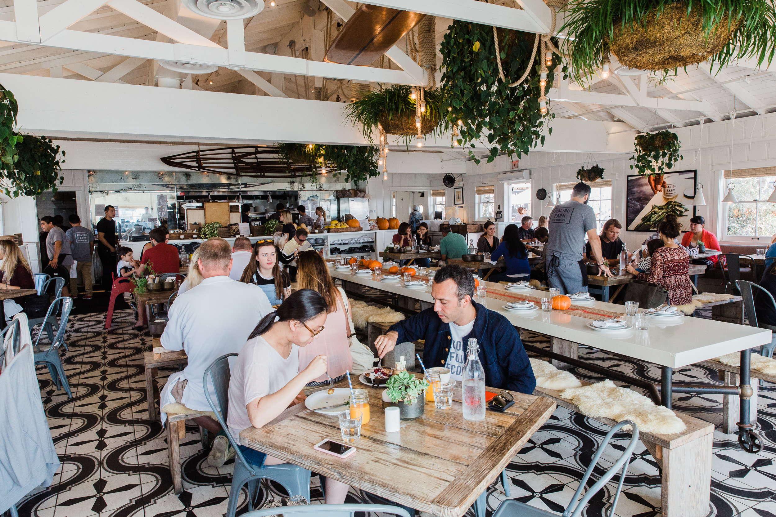 Diners can choose between Malibu Farm's restaurant, or it's more casual sister cafe next door.