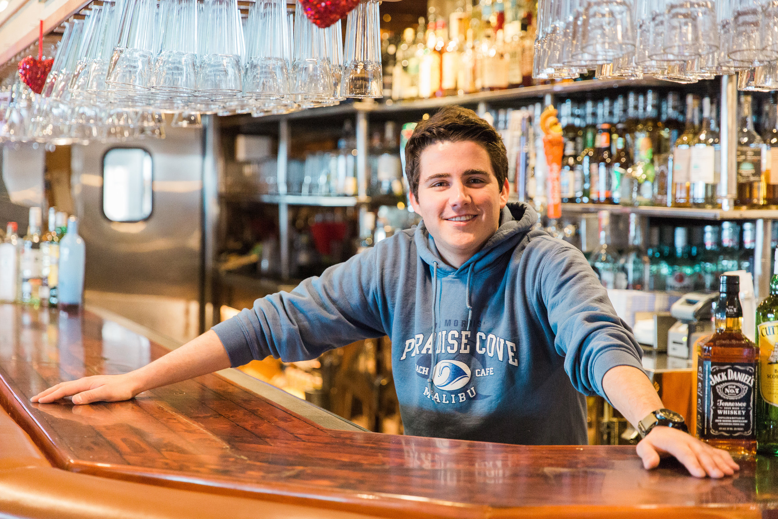 Timothy Morris, Bob's son, began as a trainee working on the line and in the kitchen, and now heads the restaurant's bar program.