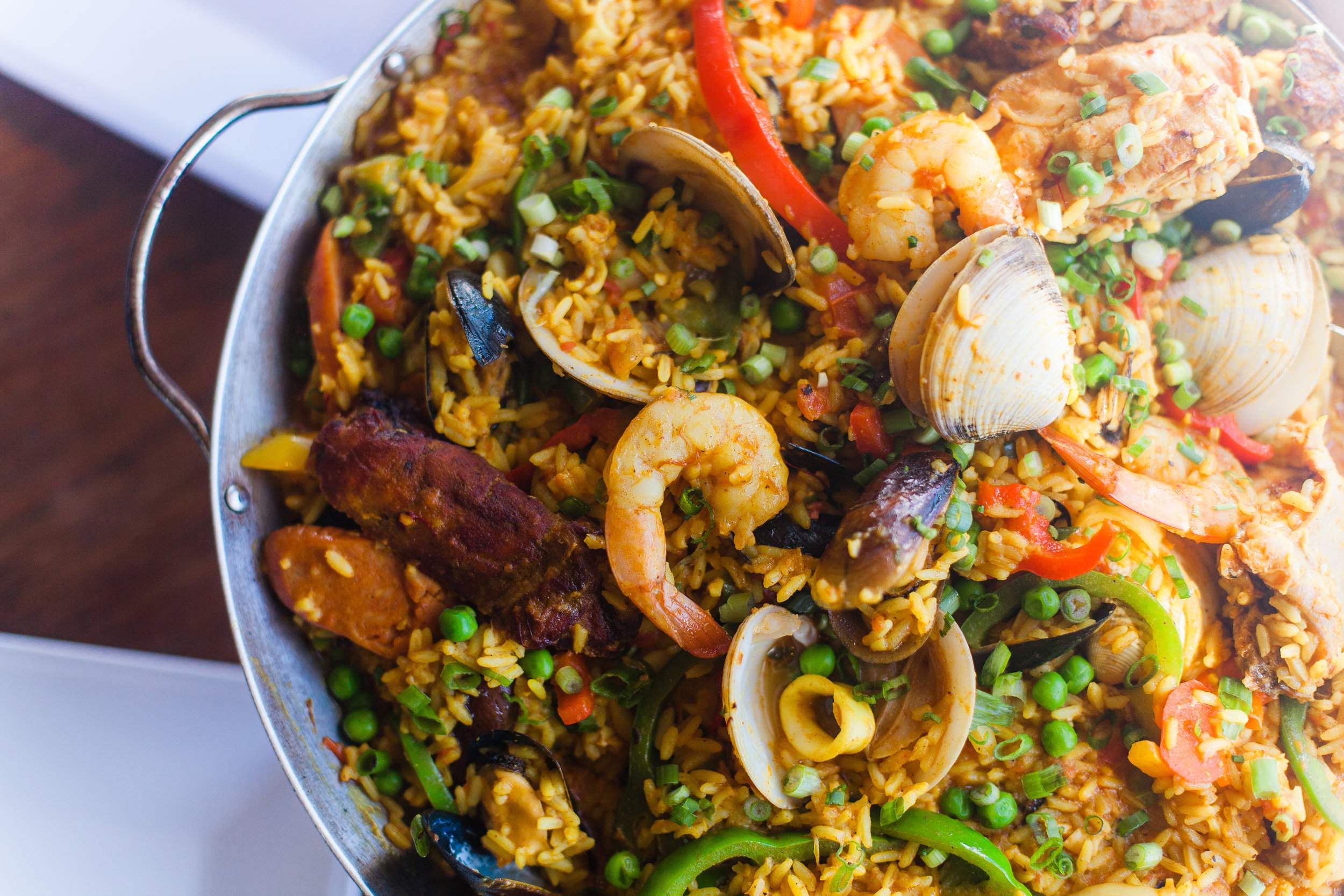 Paradise Cove's paella was inspired by a Morris family vacation to Spain.