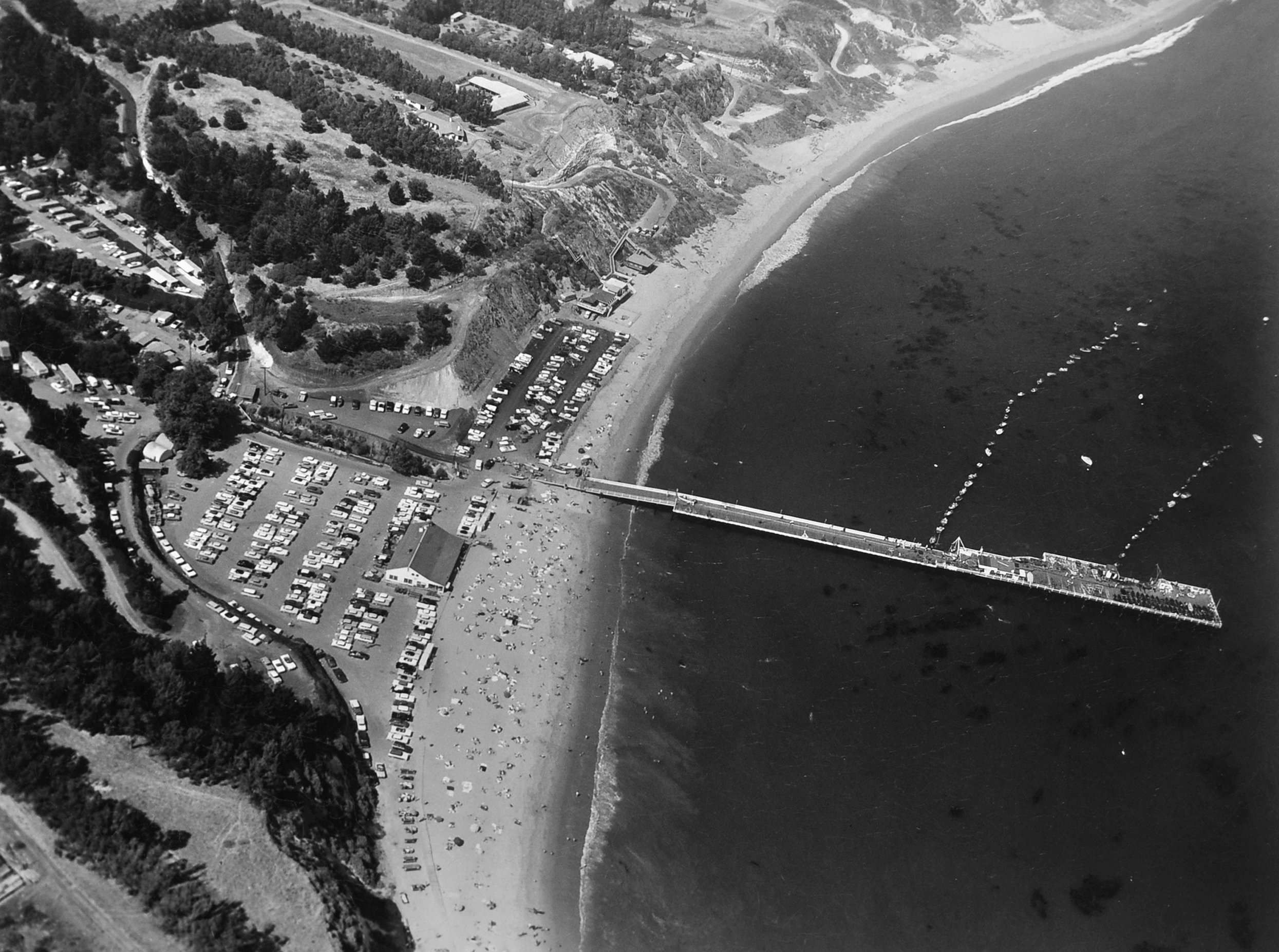 Paradise Cove in 1957. Courtesy Bill Beebe Collection.