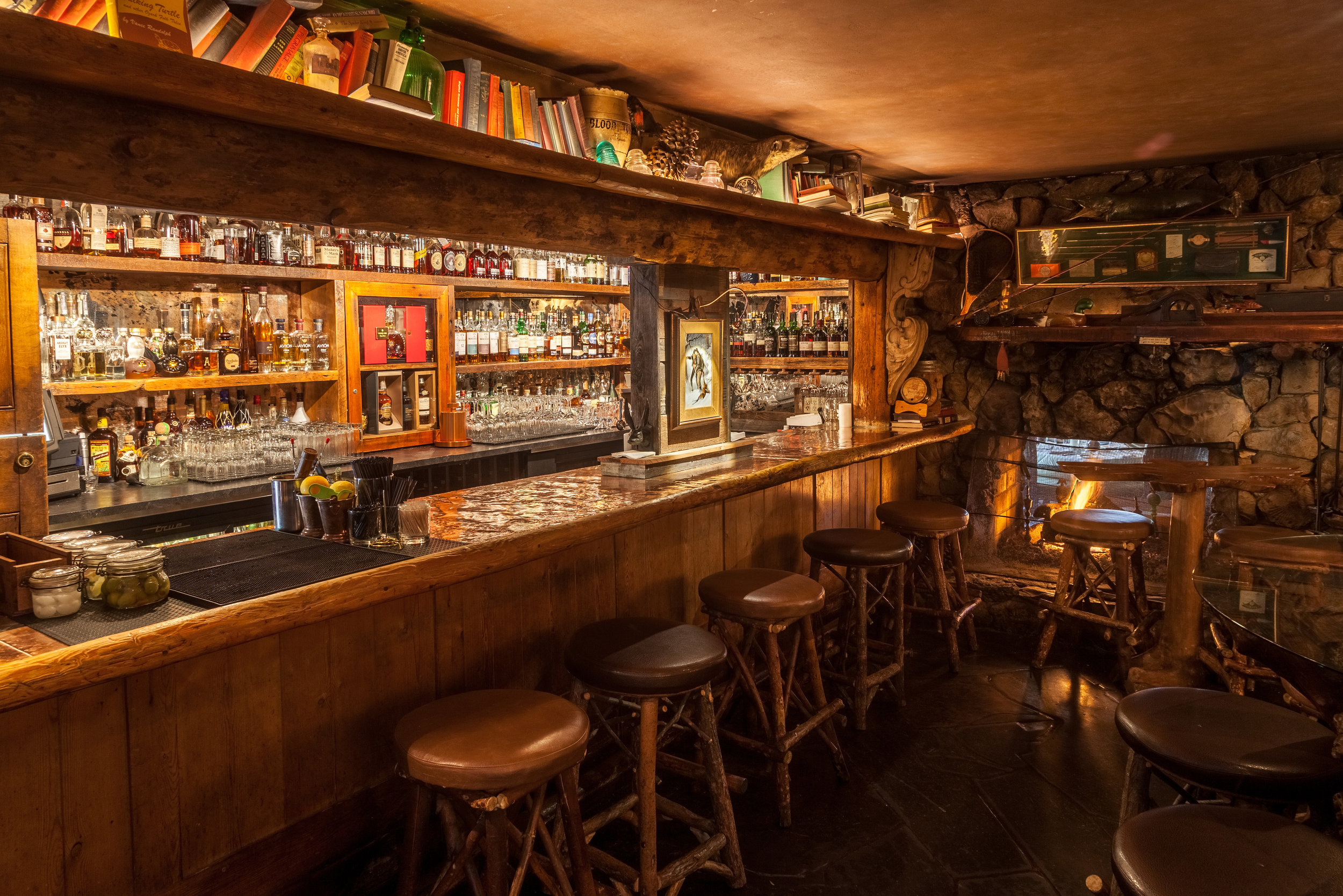 Saddle Peak Lodge's recently-opened Double Barrel Room offers an extensive collection of rare and vintage whiskeys.