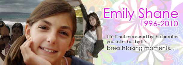 "On April 3, 2010, 13 year-old Emily Shane was tragically struck and killed by a speeding car while walking along PCH. The Emily Shane Foundation was established in her honor, describing Shane as ""one of the most amazing kids who was kind to all."" Find out more at www.emilyshane.org."