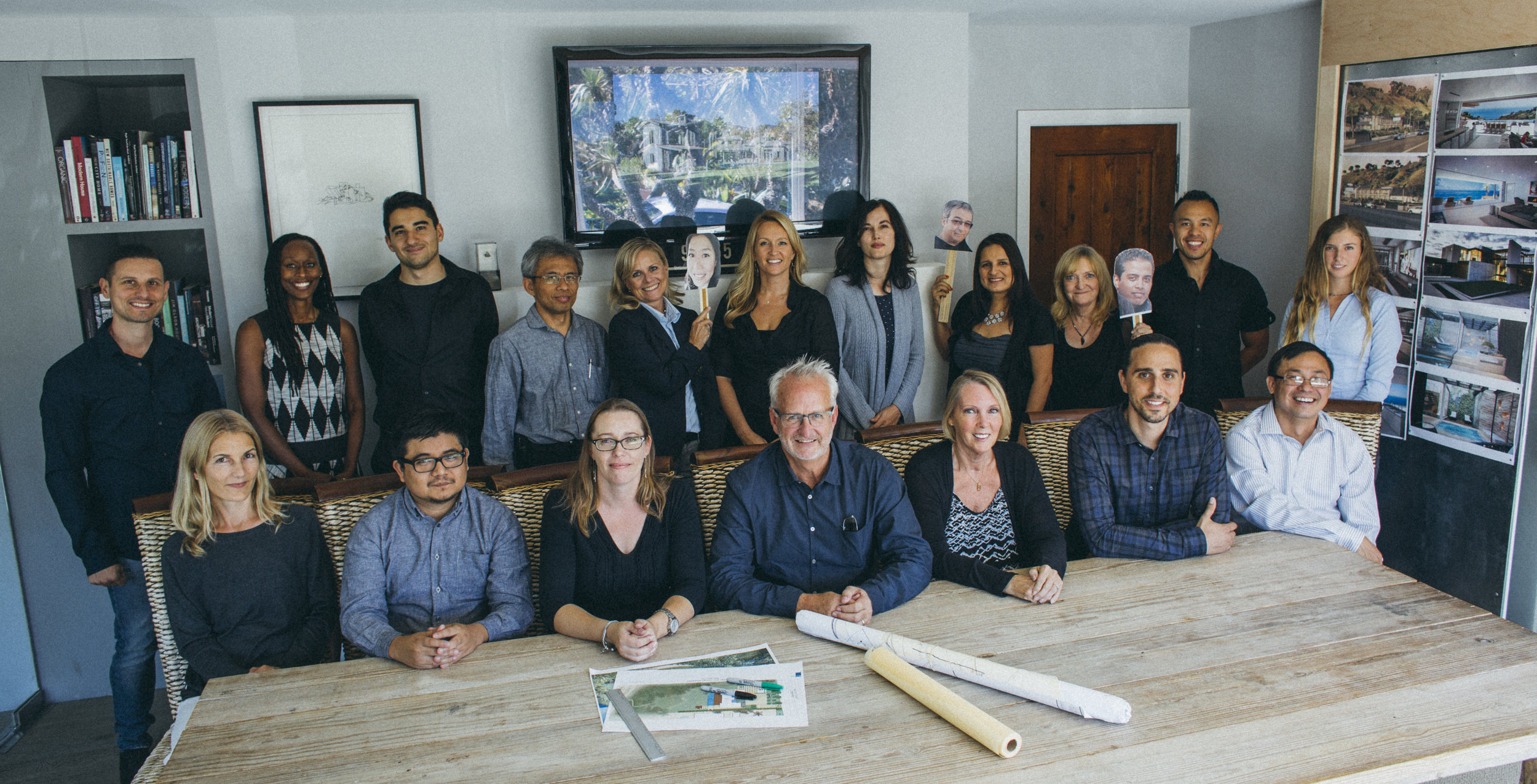 The Burdge & Associates Architects team at their office just off PCH.
