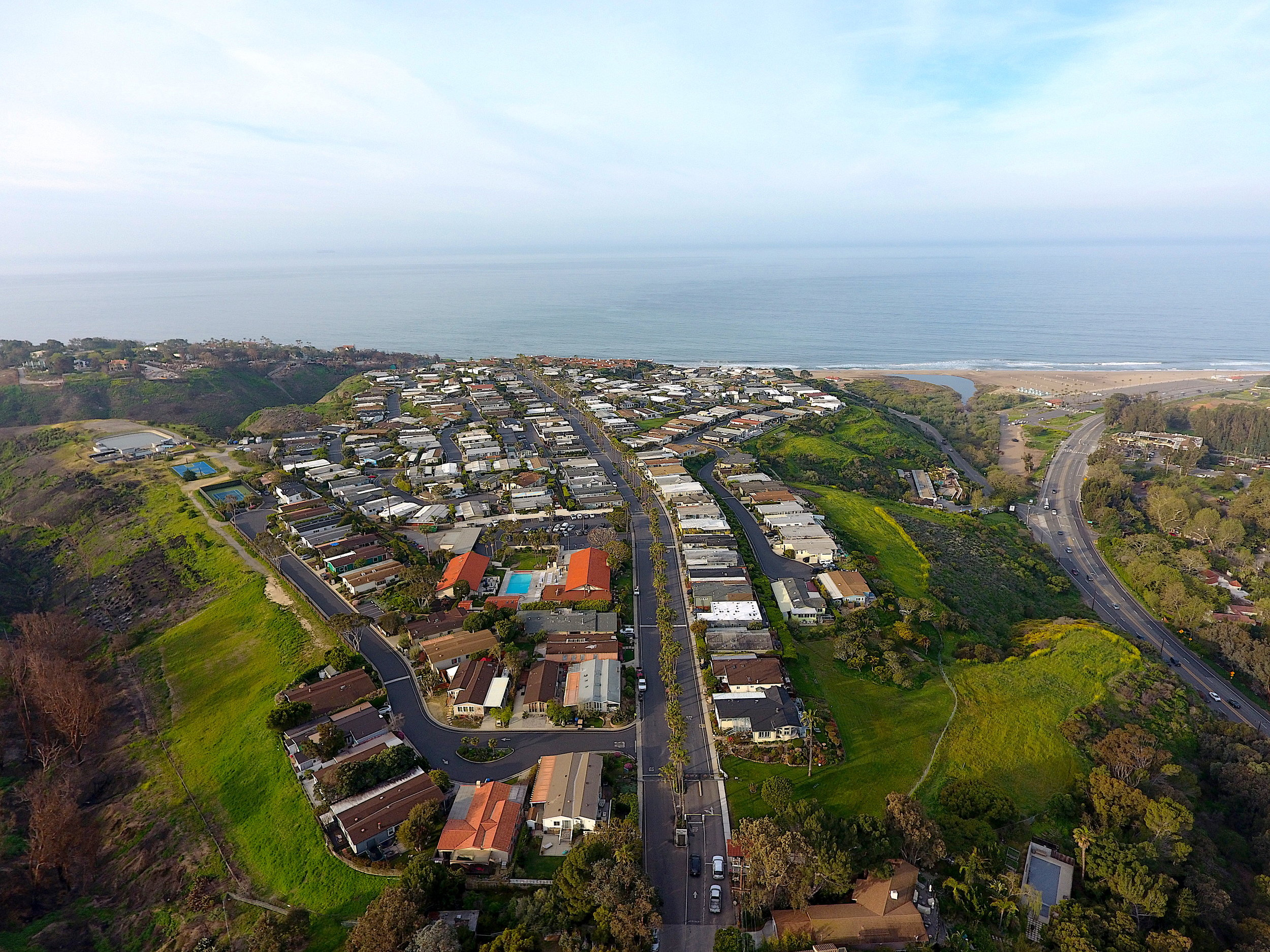 Opened in 1970, the Point Dume Club sits right next to the Point Dume Plaza. Many homes offer spectacular ocean views.