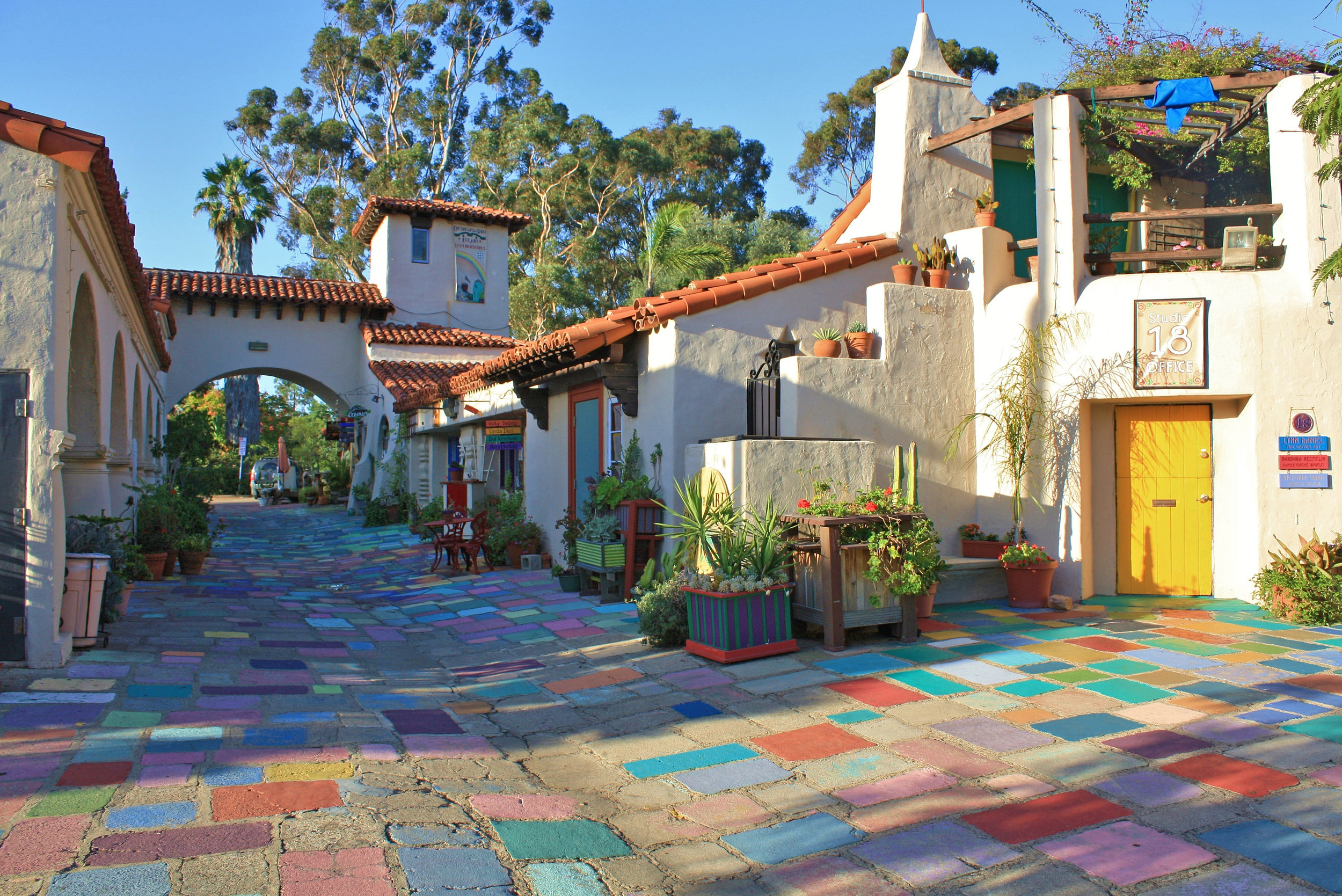 The Spanish Village.  Photo courtesy Linda Field, via sandiego.org.