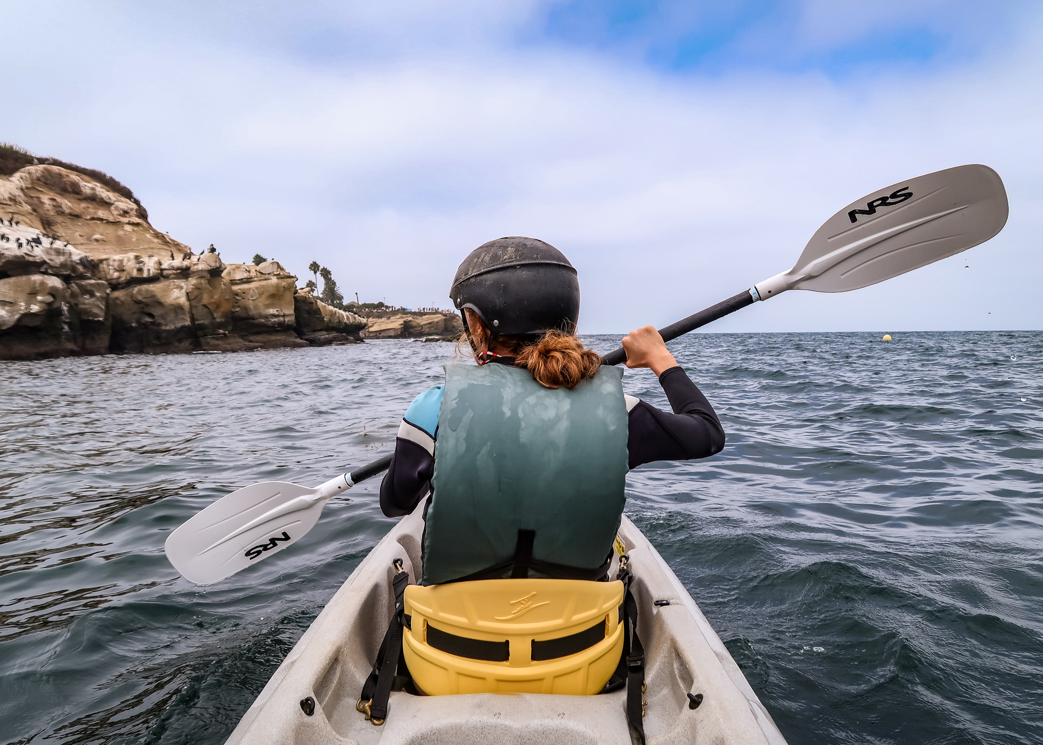 Kayaking in La Jolla.