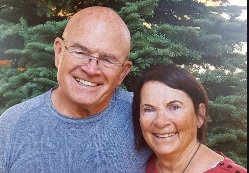 Here seen with her husband, Russ. Image from Marielle Banducci