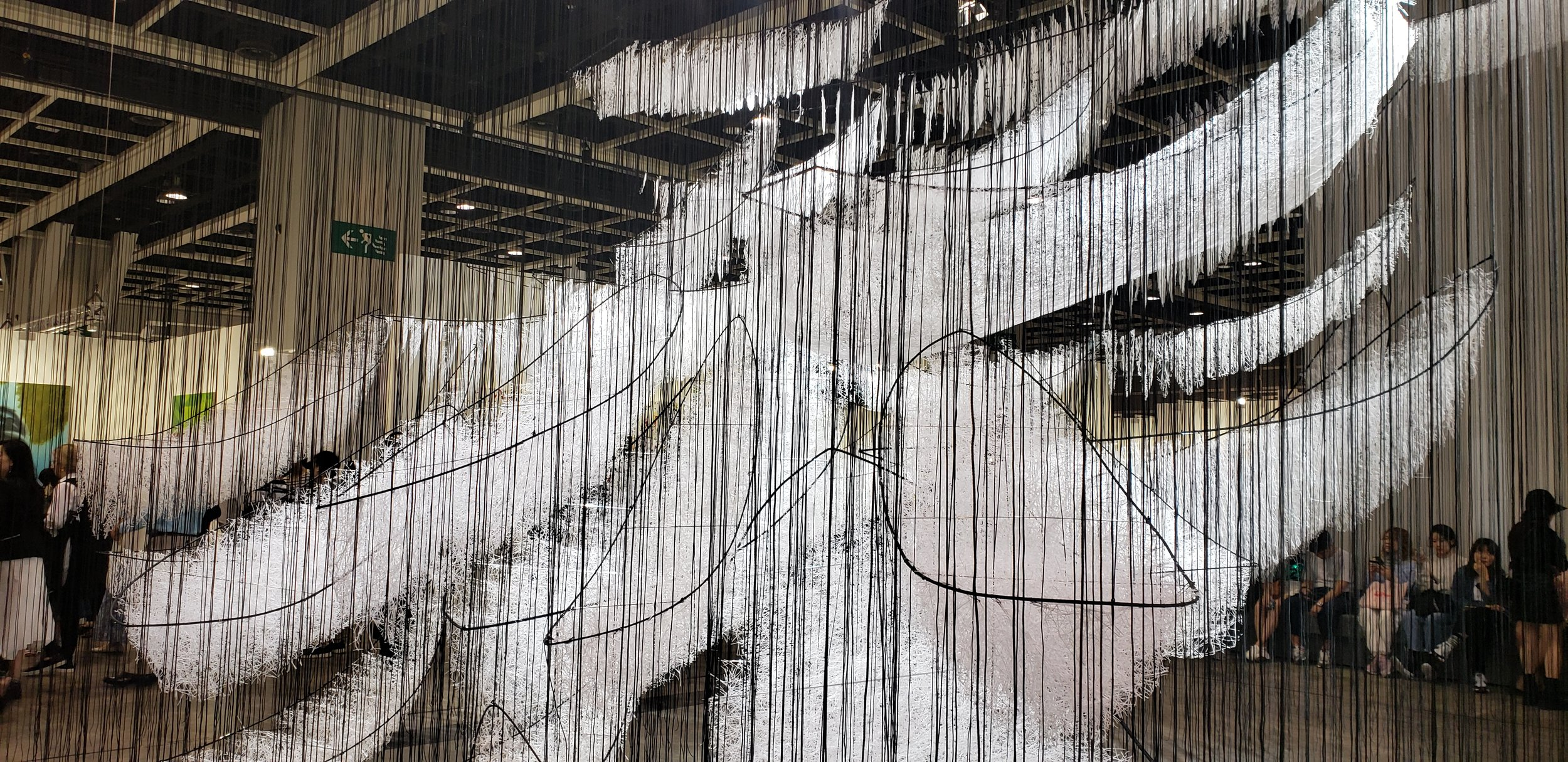 Where Are We Going , 2017-2018 by Chiharu Shioto.