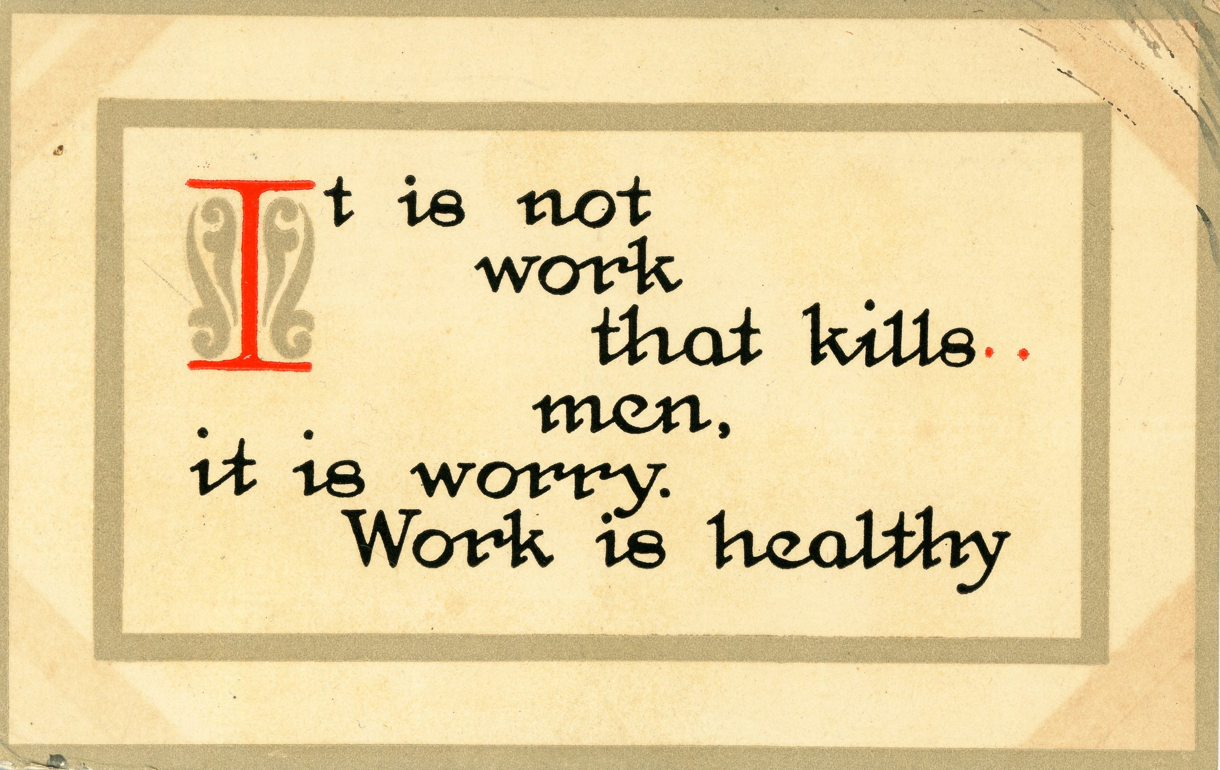 work_is_healthy