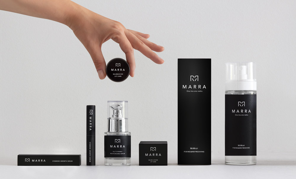 Marra Cosmetics Identity and Packaging