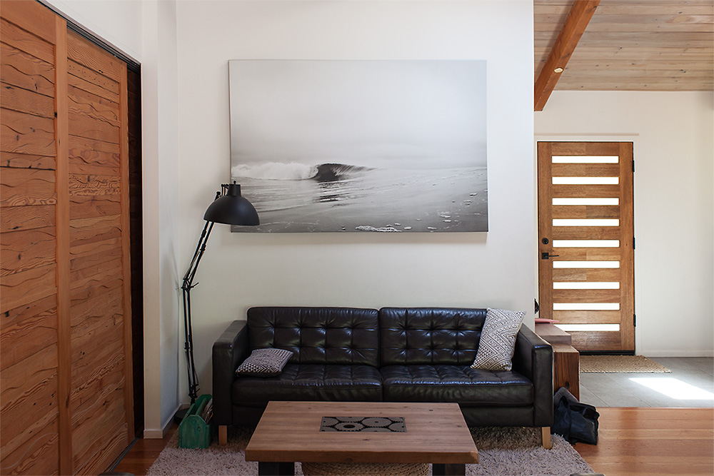 """Stand Up Straight"" 72"" x 48"" canvas print in its natural habitat, Stieg residence, Lagunitas."