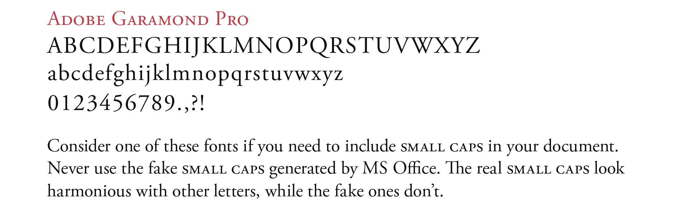 The Small Caps Issue — Type and Graphics Lab