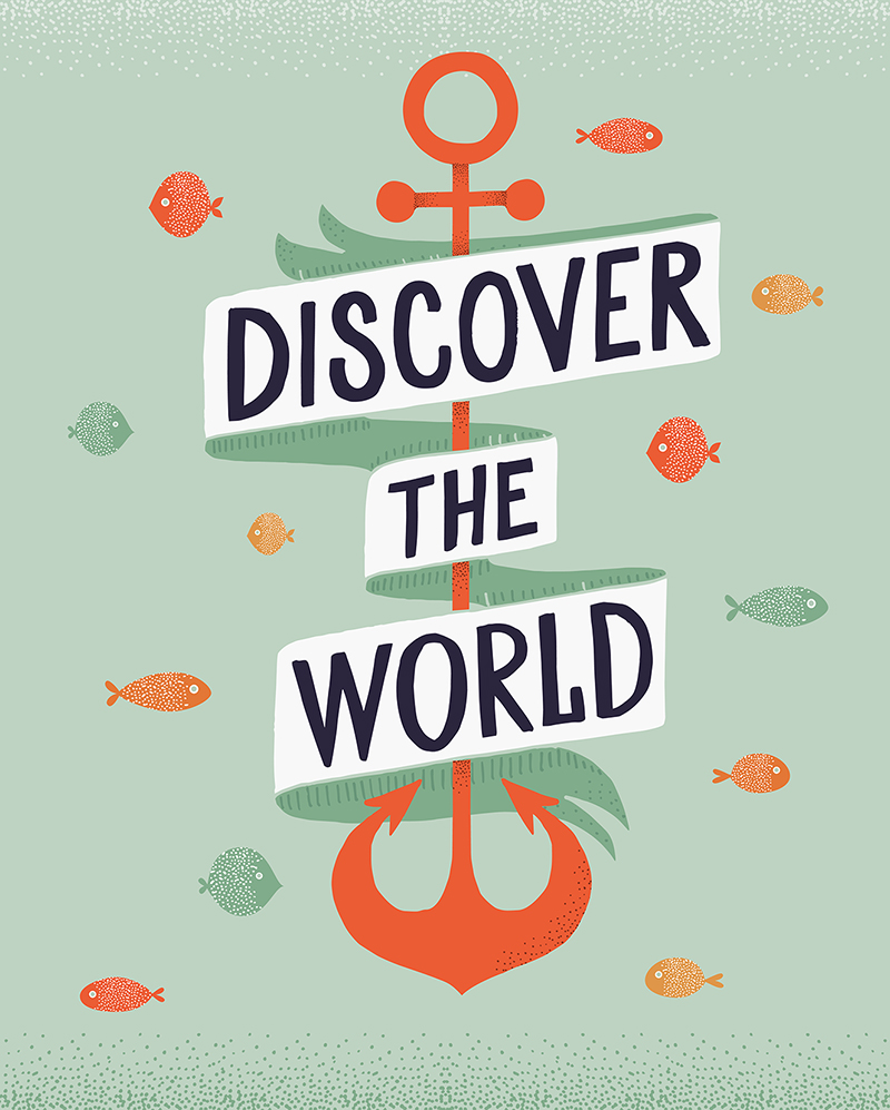 Discover the World | Lettering by Type and Graphics Lab