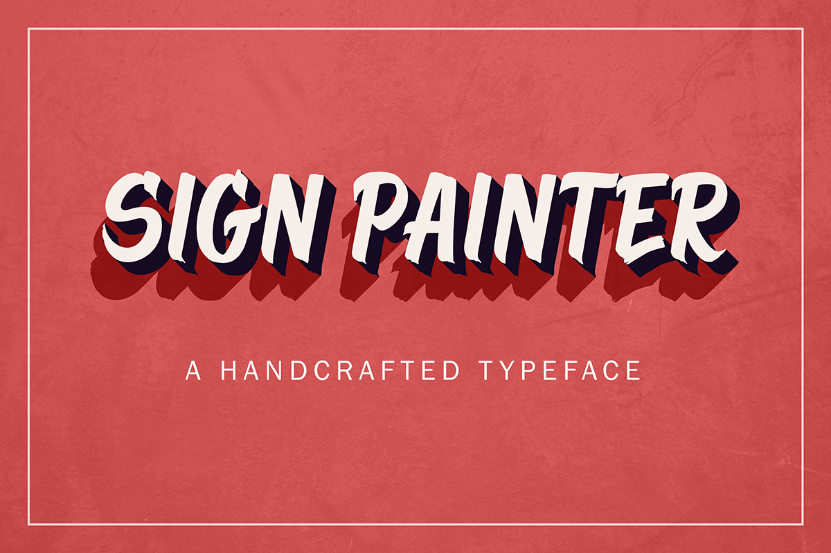 Sign Painter Typeface by Type and Graphics Lab | typeandgraphicslab.com