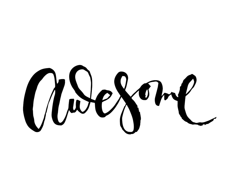 Awesome   100 Days of Lettering by Type and Graphics Lab   typeandgraphicslab.com