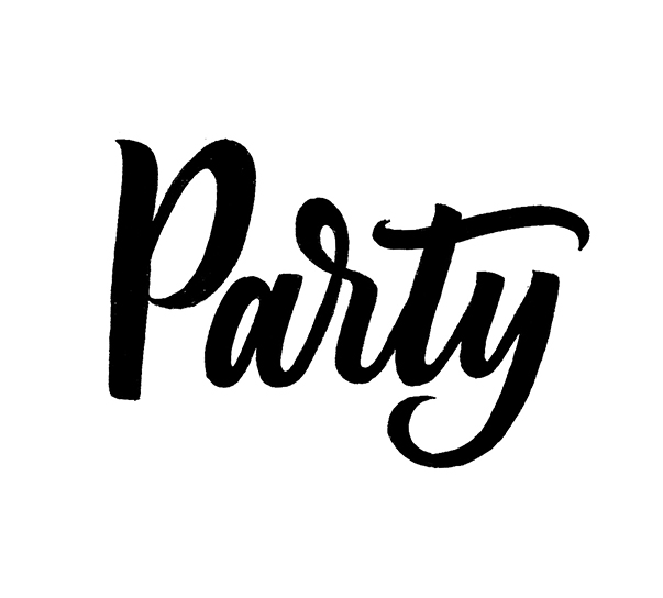 Party   100 Days of Lettering by Type and Graphics Lab   typeandgraphicslab.com