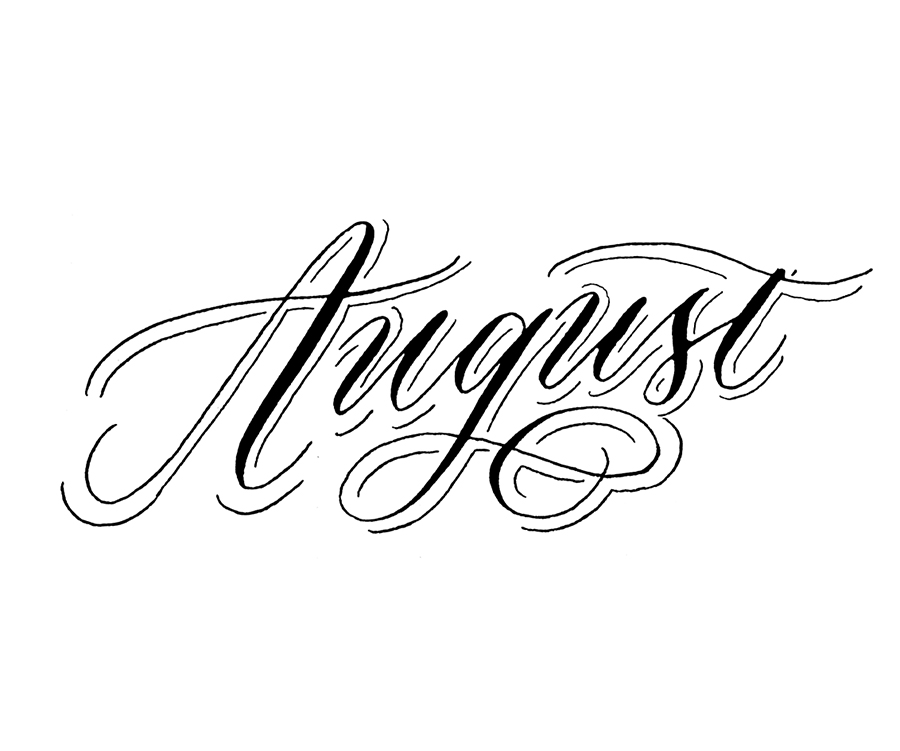 August |  100 Days of Lettering |  By Type and Graphics Lab |    typeandgraphicslab.com
