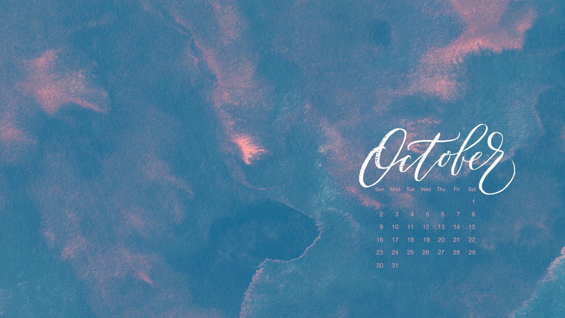 Free Desktop Calendar for October 2016   typeandgraphicslab.com