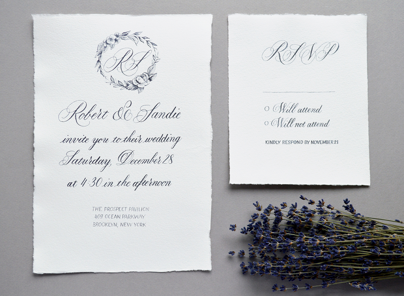 Wedding Collection: Paris in the snow by Type and Graphics Lab   typeandgraphicslab.com
