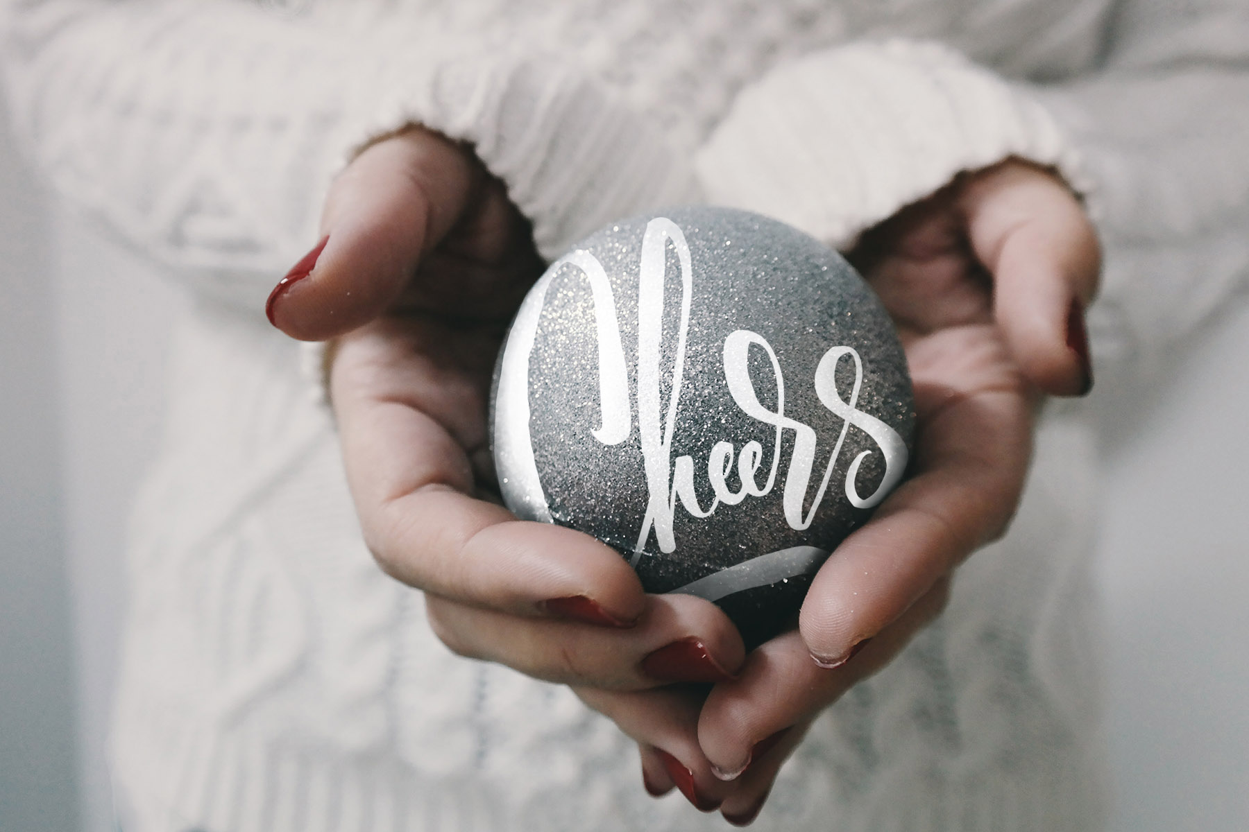A collection of Christmas Overlays with lettering designs by Type and Graphics Lab |  https://crmrkt.com/OMQk8   Photo credit: Brigitte Tohm | Source: unsplash.com