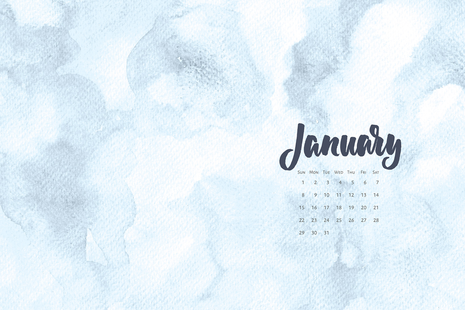 Download a free a calendar for January 2017. For personal use only | © typeandgraphicslab.com