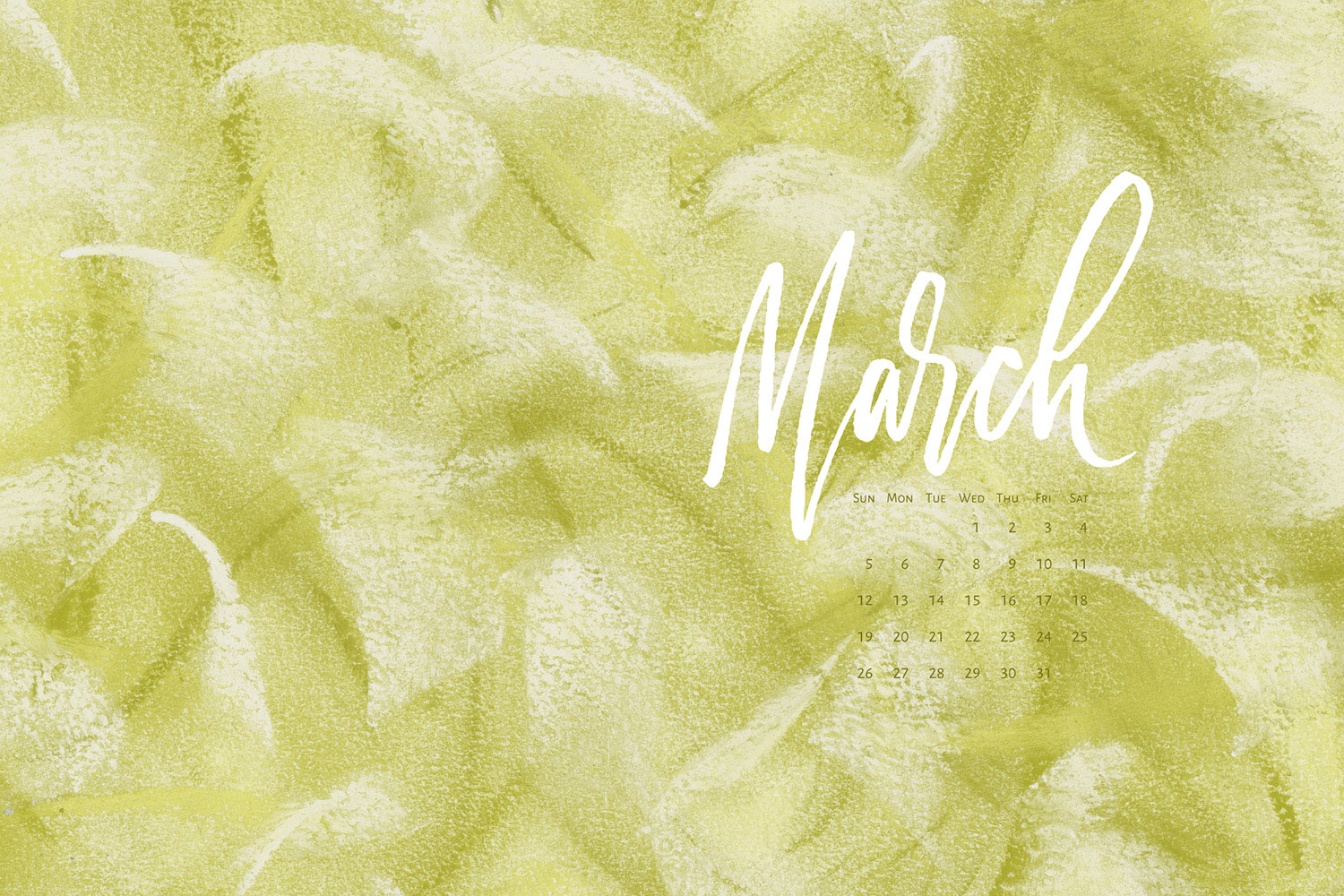 Download a free calendar for March 2017 |©typeandgraphicslab.com | For personal use only