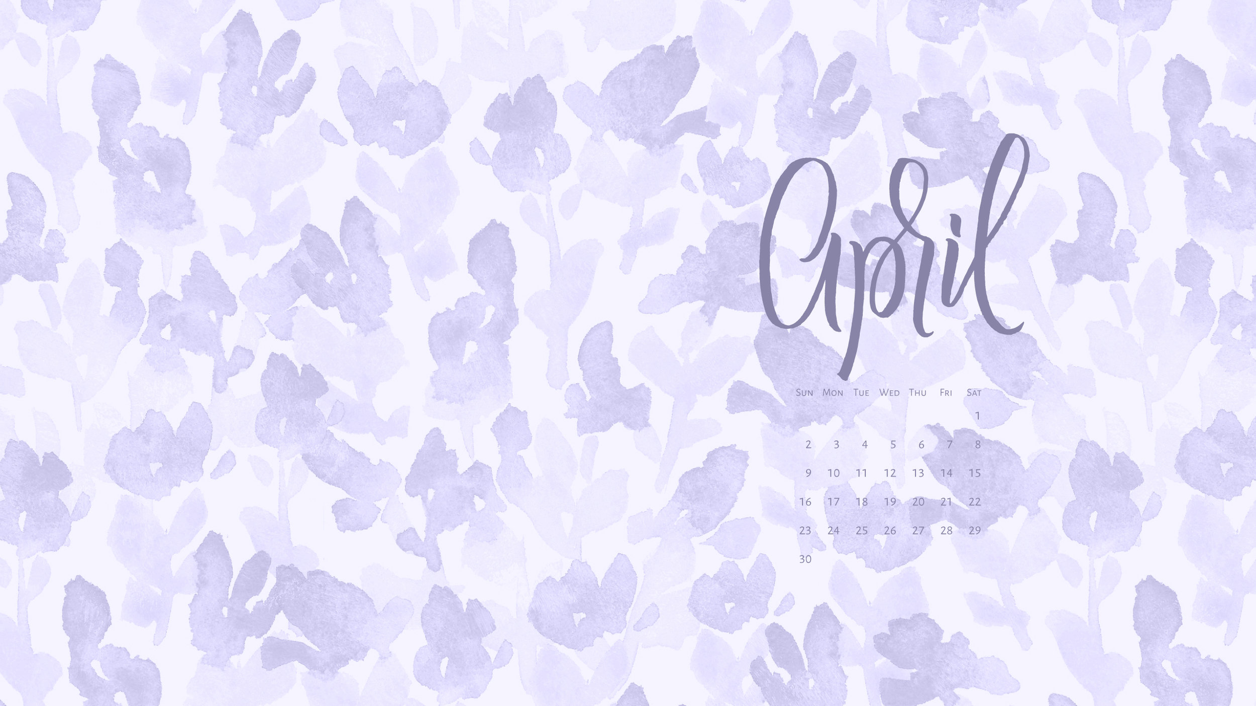 Download a free calendar for April 2017 |©typeandgraphicslab.com | For personal use only