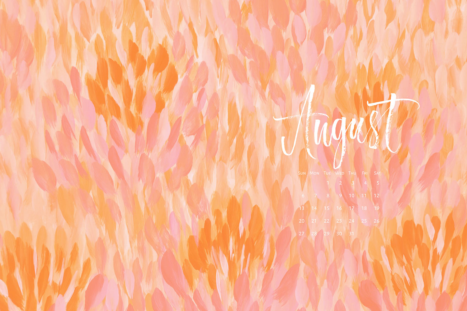 Download a free calendar for August 2017 |©typeandgraphicslab.com | For personal use only