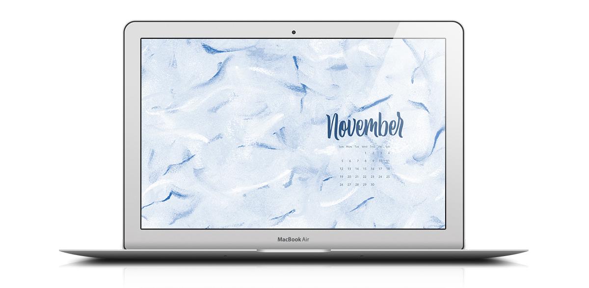 Download a free desktop calendar for November 2017 |©typeandgraphicslab.com | For personal use only