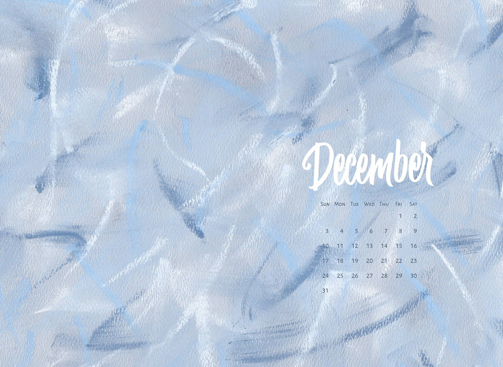 Download a free calendar for December 2017 |©typeandgraphicslab.com | For personal use only