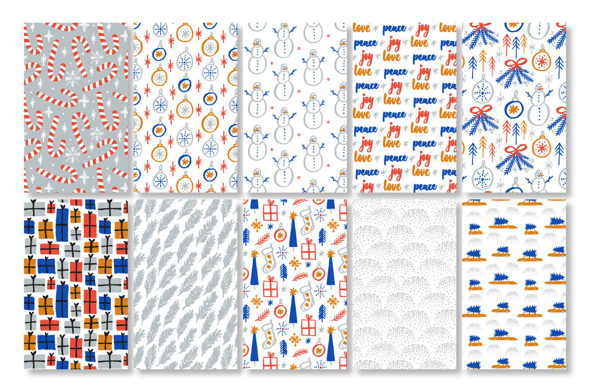 Download these festive Christmas patterns and illustrations for your design projects! | Hand crafted with love by Type and Graphics Lab |  typeandgraphicslab.com