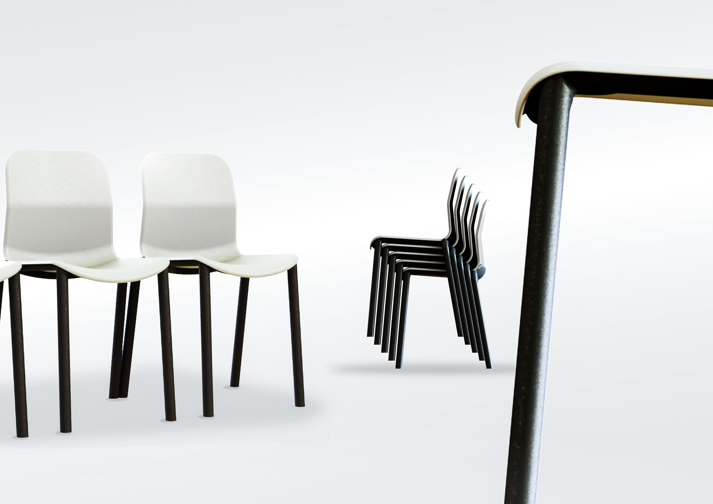 James Plant Industrial design stacking chair