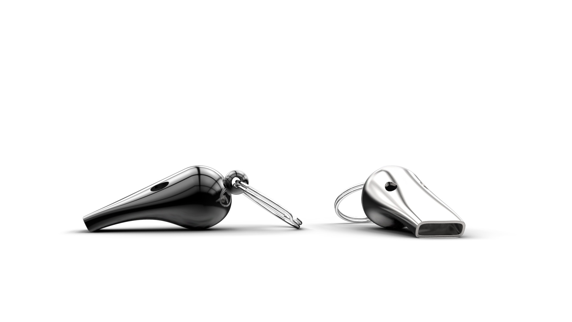 James Plant Studio - sports whistles - black and steel.jpg