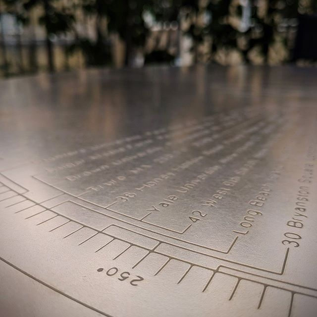 Narrative is really important in my work. When creating a bespoke piece the item should be as individual as the person commissioning it, sometimes that's a bold statement or sometimes something more subtle. This solid bronze table top, for a client in Bloomsbury, details important places to them through out the years, listing the distance and degrees  from their home.⠀ .⠀ .⠀ .⠀ .⠀ ⠀ *⠀ *⠀ *⠀ *⠀ *⠀ #furnituredesign #furnituredesigner #furniture #bespoke #bespokefurniture #bespokedesign #custommade #customdesign #contemporary #contemporaryart #contemporarydesign #handmade #designart  #jamesplantstudio #jamesplant #jamesplantdesign #design #designer #furnituredesign #lightingdesign #interiordesign #objectdesign #vancouver #vancouverdesigner #vancouverdesign #london #londondesign #londondesigner  #industrialdesigner  #curated