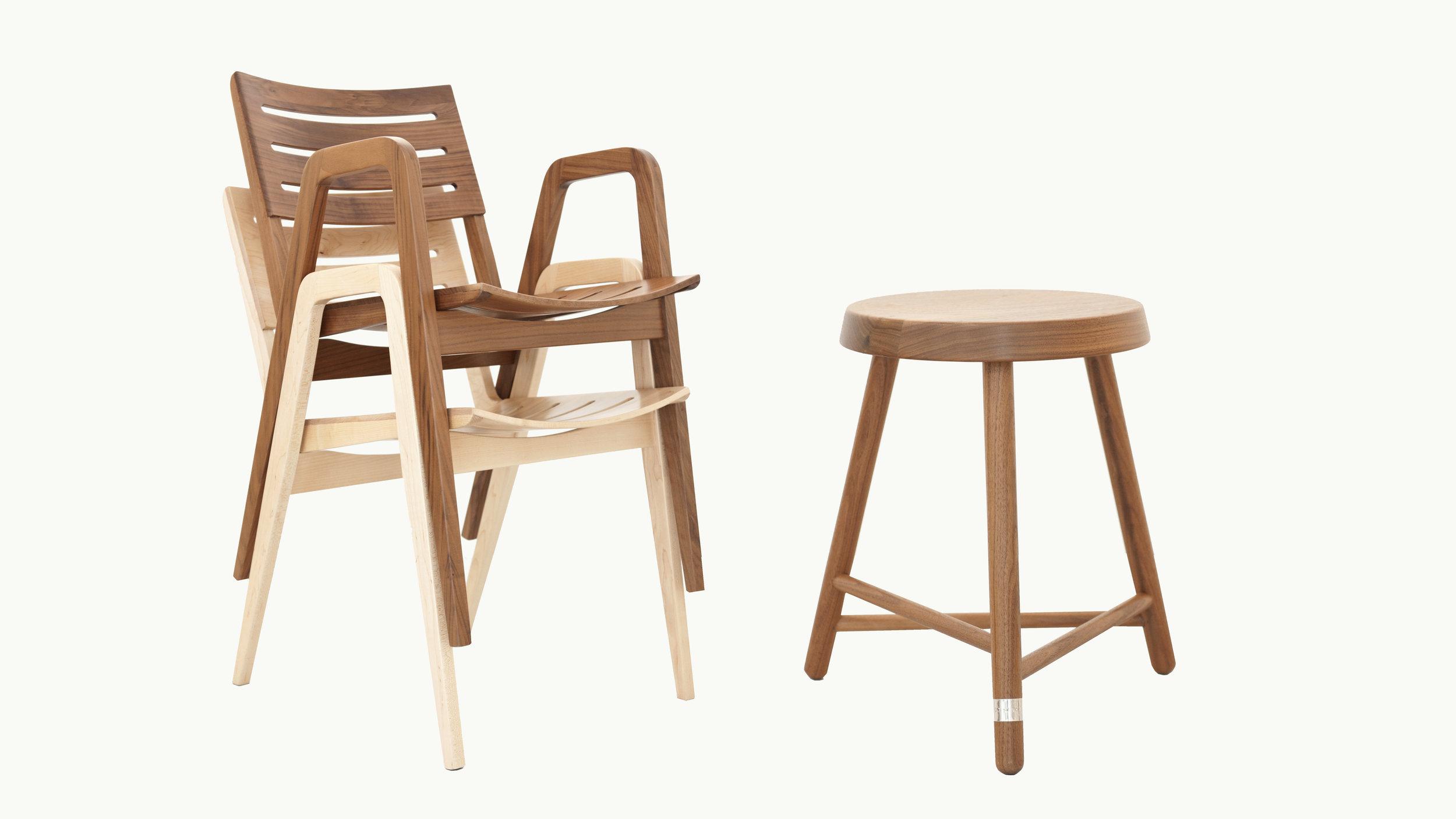 PlantandMoss_Bistro_Chairs Stacked_and_Companion_Stool.jpg