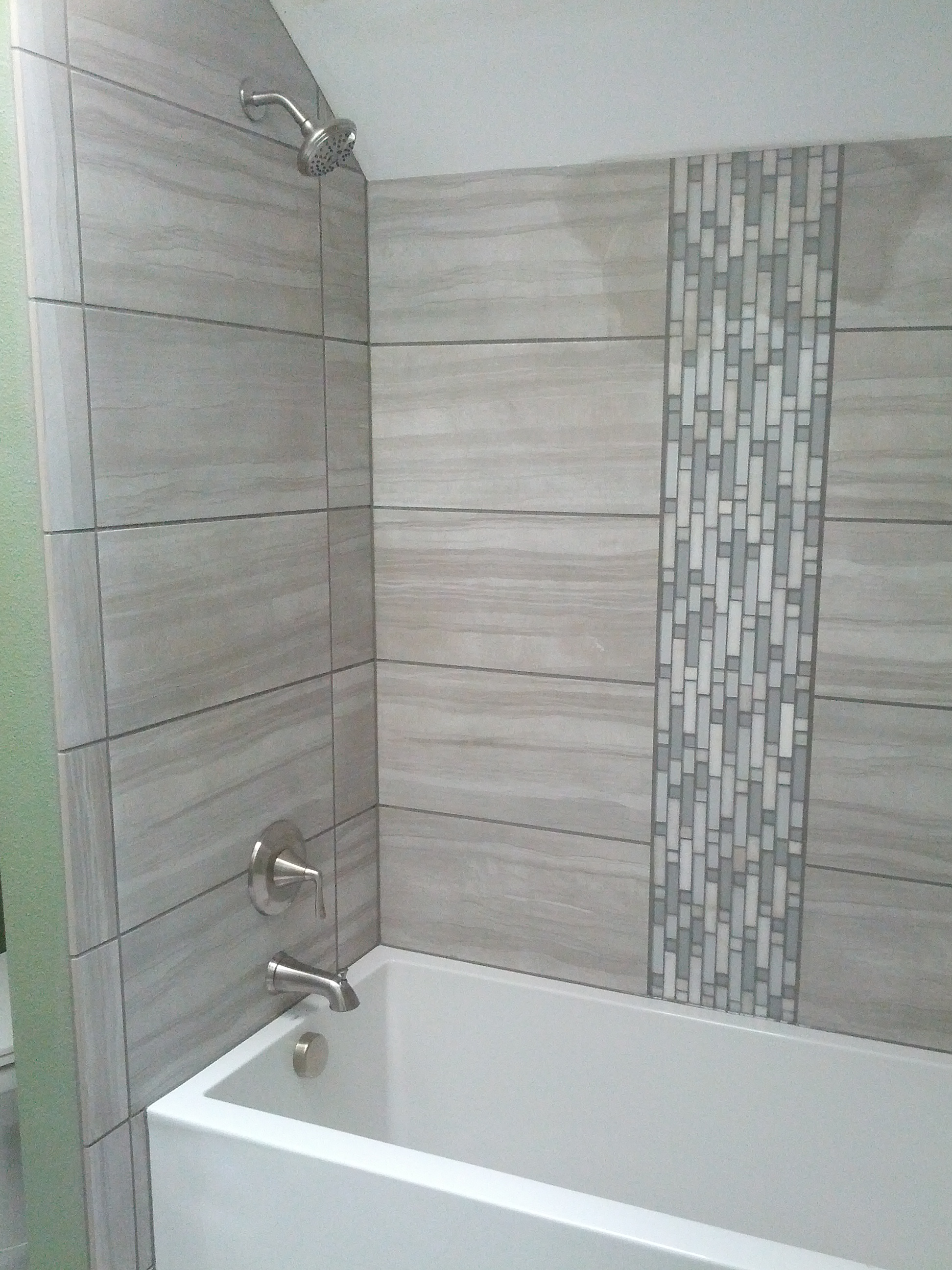 Shower that we plumbed