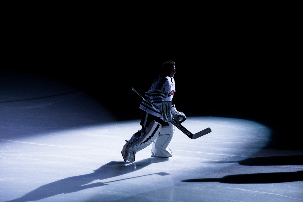 UMass Men's Ice Hockey lost to Merrimack 4-2 at the Mullins Center Friday night.Photo by Judith Gibson-Okunieff