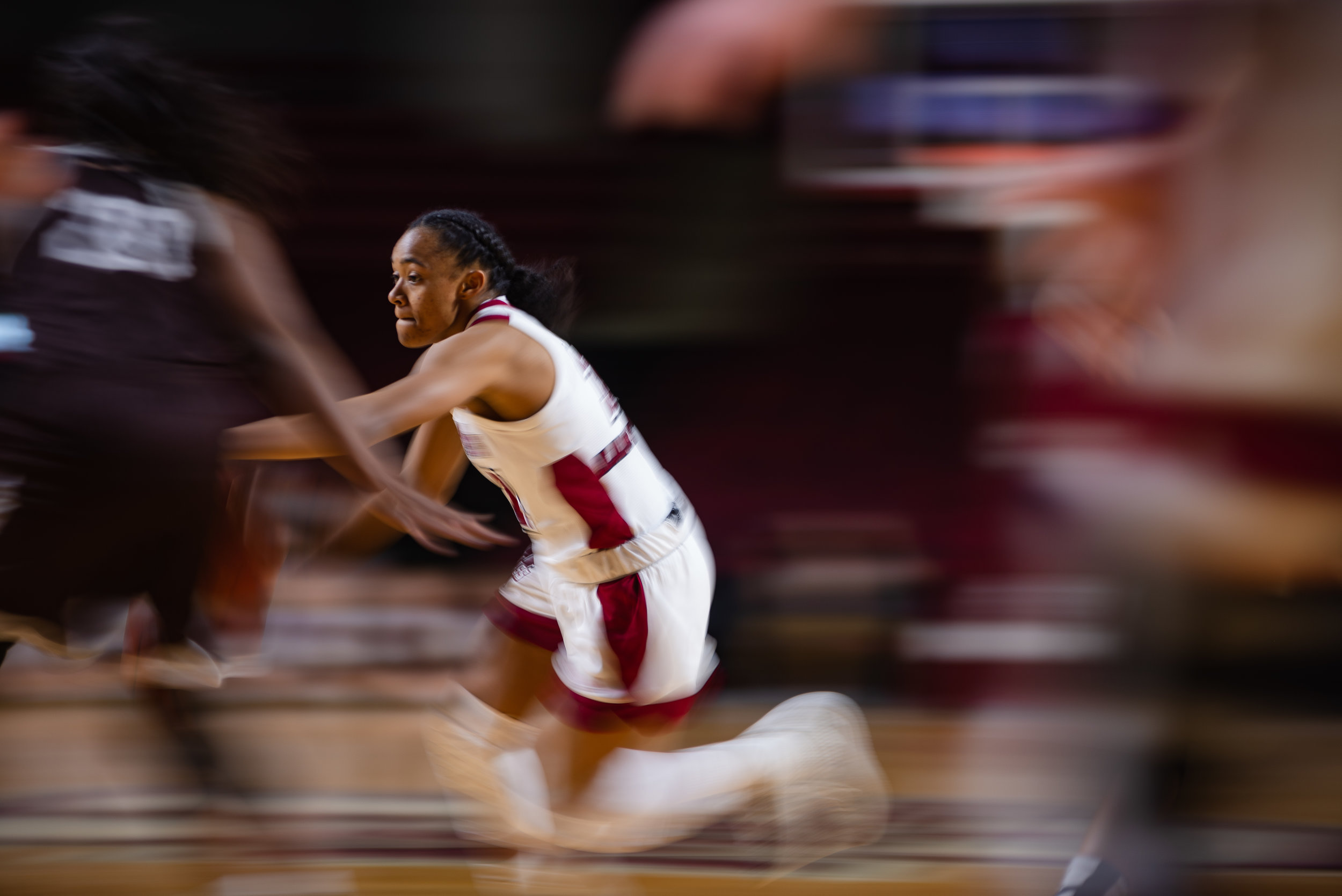 UMass Women's Basketball falls short against St. Bonaventure in a close game, losing by 1 point. The final score was 63-64 at the Mullins Center on Saturday Jan. 26, 2019.  (Photo by Judith Gibson-Okunieff)