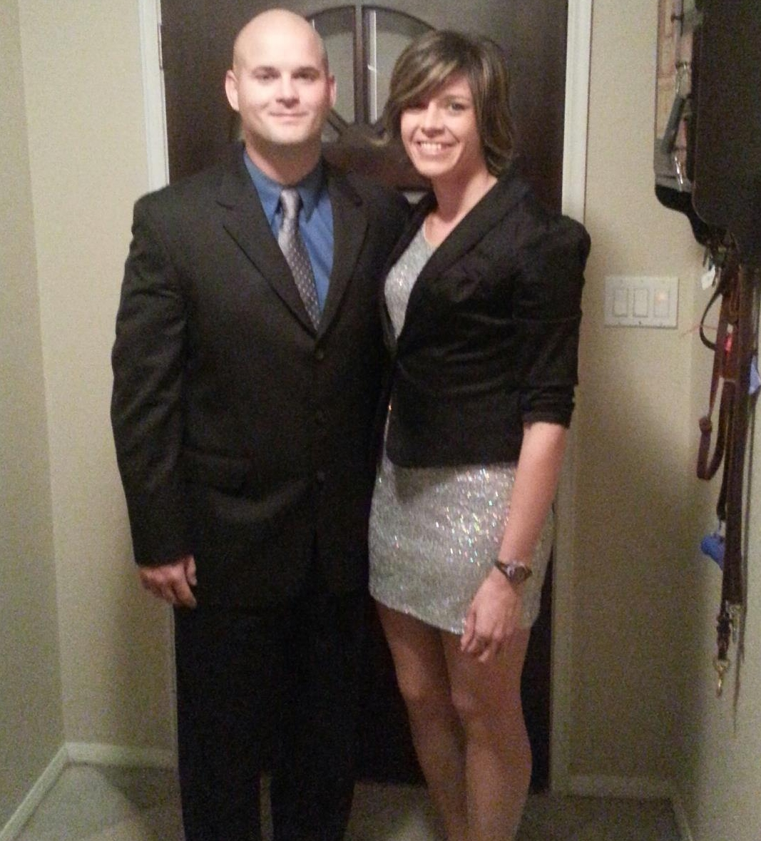Jan 2013- Me & my ex-husband heading out for an Infinitely Fit event.