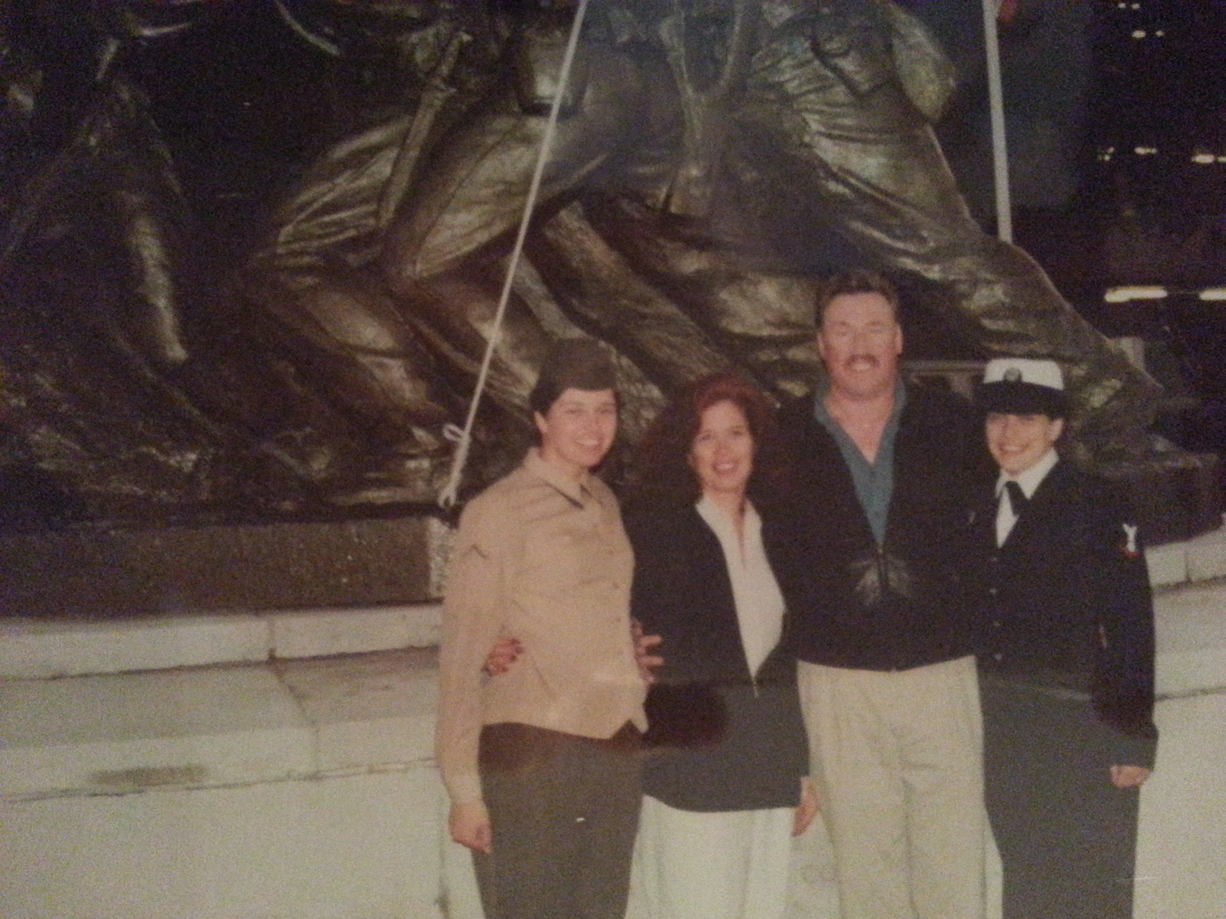 Boot Camp Graduation with my sister and parents