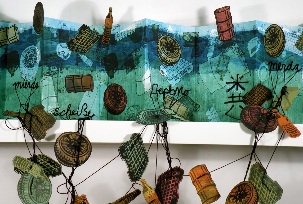 Rachel Simmons, Merde Sur La Mer , mixed media artist's book, 2008