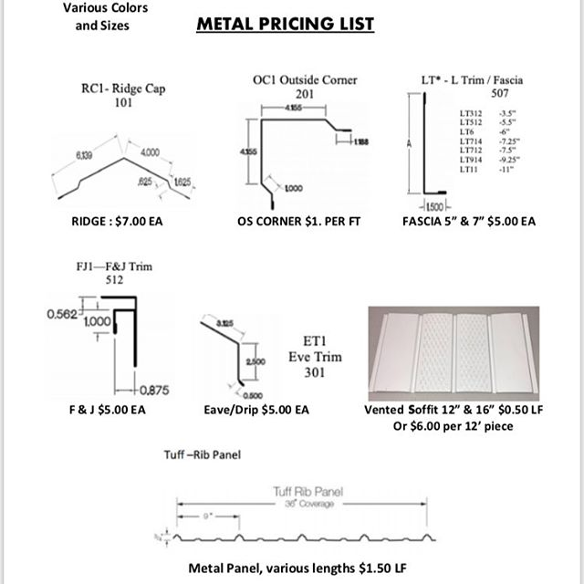 Moving Sale!  Everything must go! Metal roofing, Metal Siding, Metal trims and soffit.  #metalsiding #metalroofing #polebuilding #metal #postframeconstruction #polebuildings #postframehouse