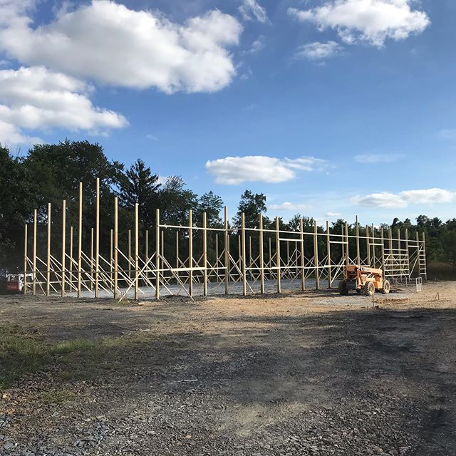 Our new shop/office is on its way!  Stay tuned for daily updates and videos. #zawadaenterprises #polebarn #polebarns #polebuilding #polebuildings #commercialbuildings #commercialpolebuildings #office #pole #wegetitupquick #equestrian #residentialbuilding #stayhard #metalsiding #metalroofing #buildwiththebest @post_protector