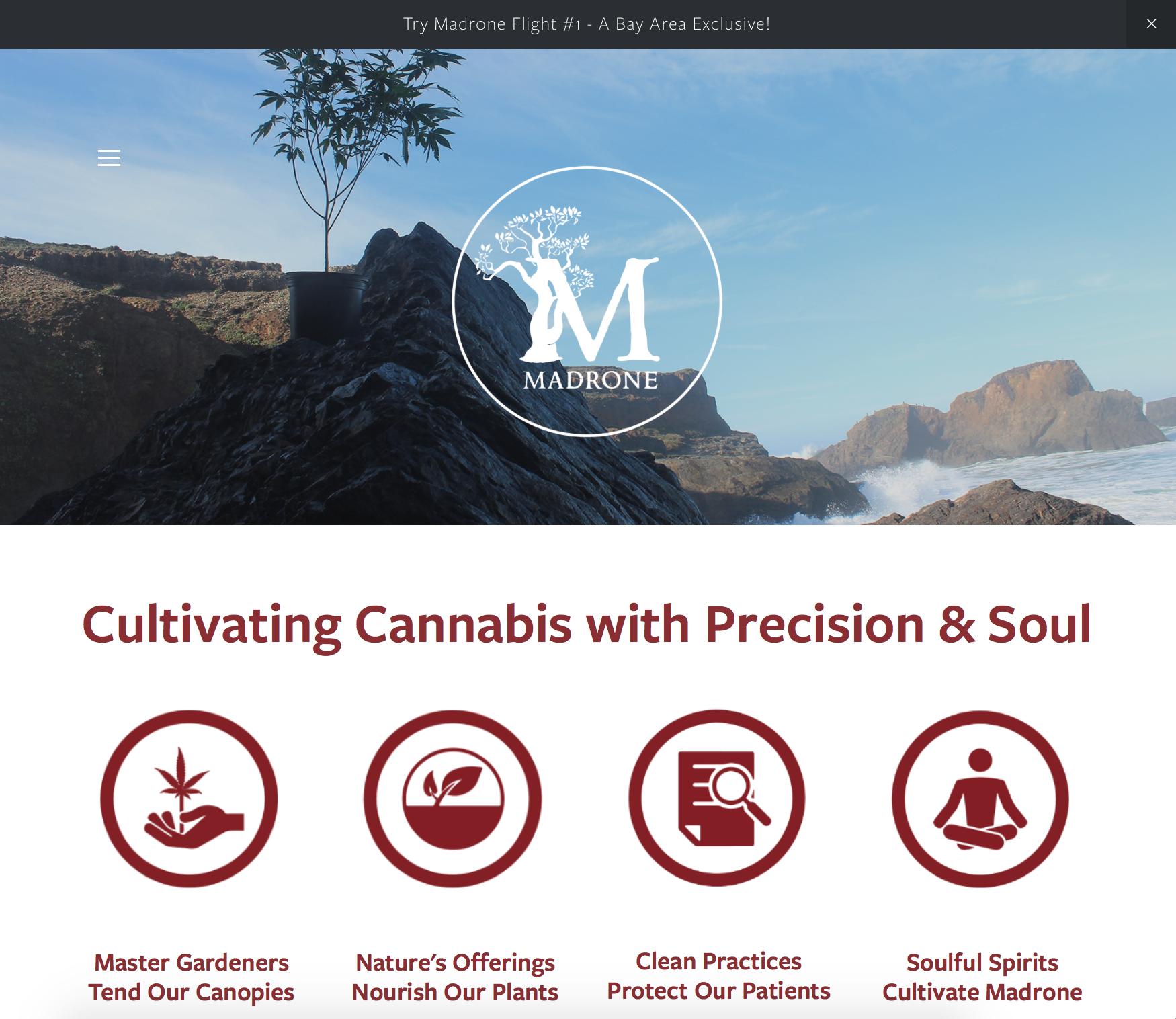 Madrone California - cannabis website design