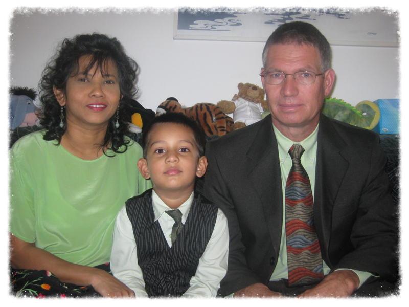 Scott Clark and his family