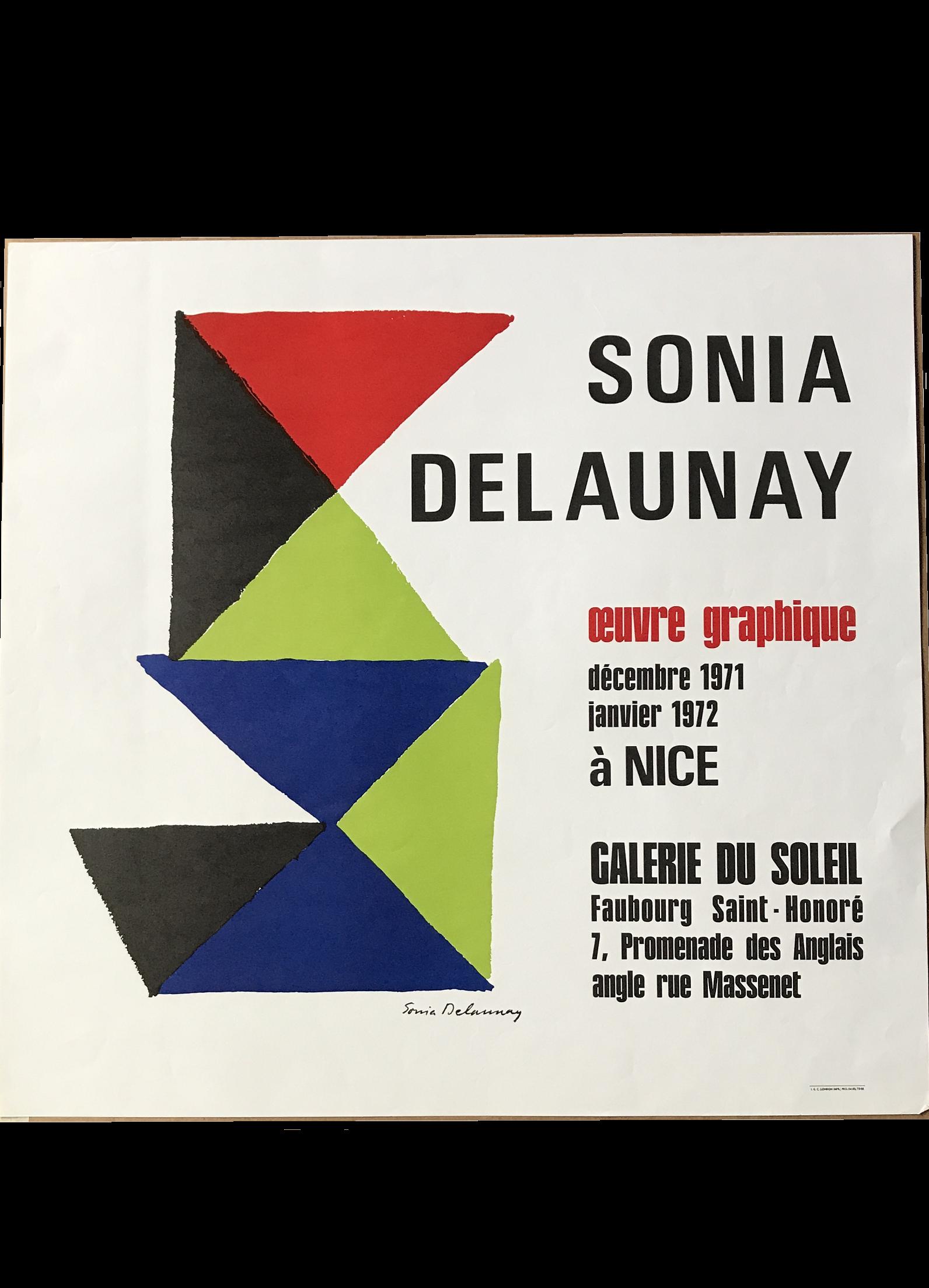 """Sonia Delaunay"",  1971, invitation"