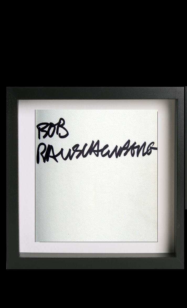 """ Rob Rauschenberg"",  1980, marker on catalogue page."