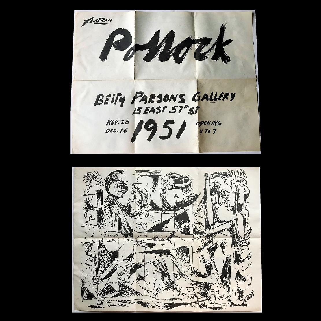 """Jackson Pollock"",  1951, invitation poster, Betty Parsons Gallery."